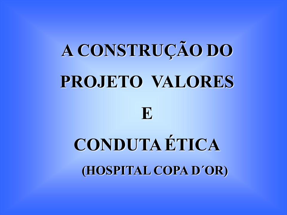 A CONSTRUÇÃO DO PROJETO VALORES E CONDUTA ÉTICA (HOSPITAL COPA D´OR) (HOSPITAL COPA D´OR)
