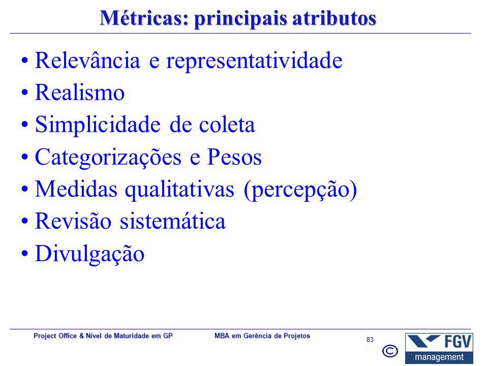 MBA em Gerência de Projetos 82 Project Office & Nível de Maturidade em GP Estágios intermediários: (além das anteriores...): Análise e aprovação de pr