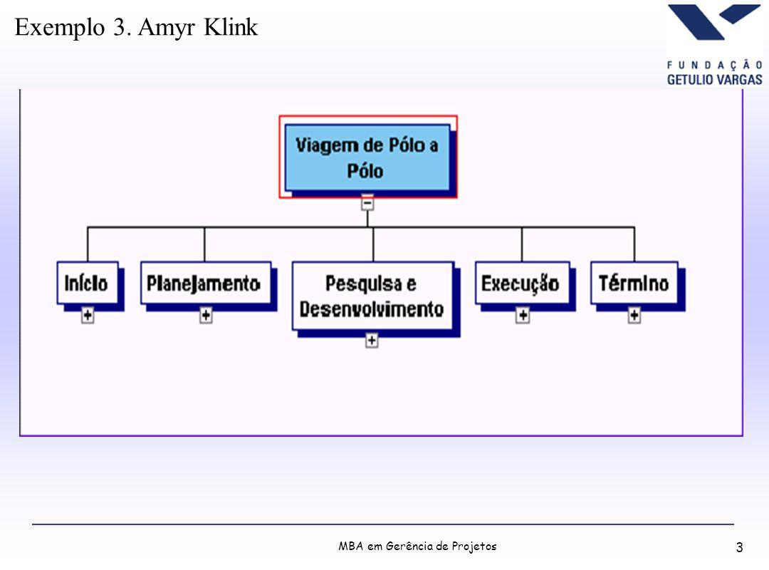 MBA em Gerência de Projetos 3 Exemplo 3. Amyr Klink
