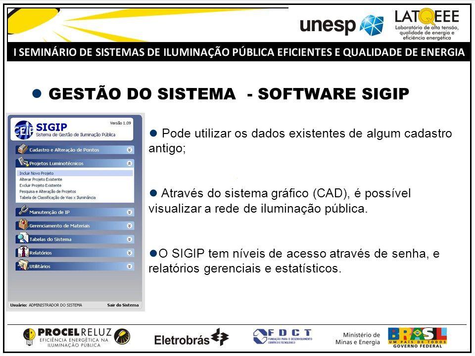 Pode utilizar os dados existentes de algum cadastro antigo; Através do sistema gráfico (CAD), é possível visualizar a rede de iluminação pública.