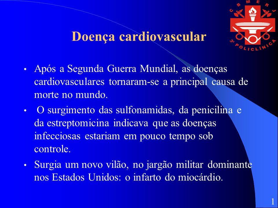 Doença cardiovascular Após a Segunda Guerra Mundial, as doenças cardiovasculares tornaram-se a principal causa de morte no mundo.
