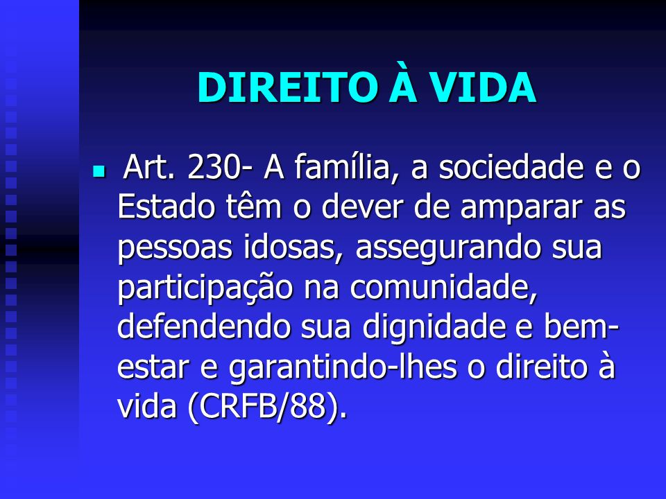 DIREITO À VIDA Art.