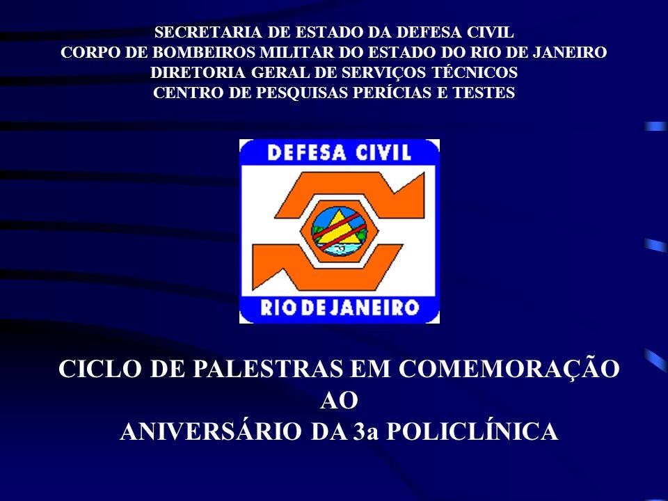 SECRETARIA DE ESTADO DA DEFESA CIVIL CORPO DE BOMBEIROS MILITAR DO ESTADO DO RIO DE JANEIRO DIRETORIA GERAL DE SERVIÇOS TÉCNICOS CENTRO DE PESQUISAS P