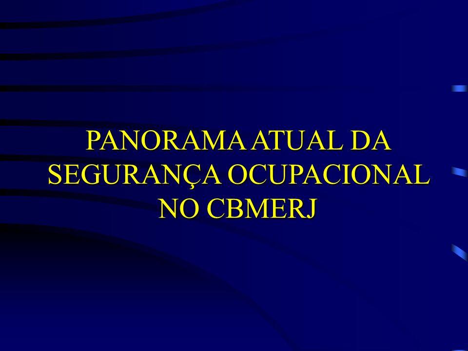 PANORAMA ATUAL DA SEGURANÇA OCUPACIONAL NO CBMERJ