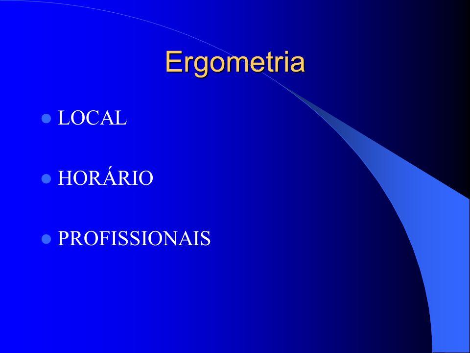 Ergometria LOCAL HORÁRIO PROFISSIONAIS