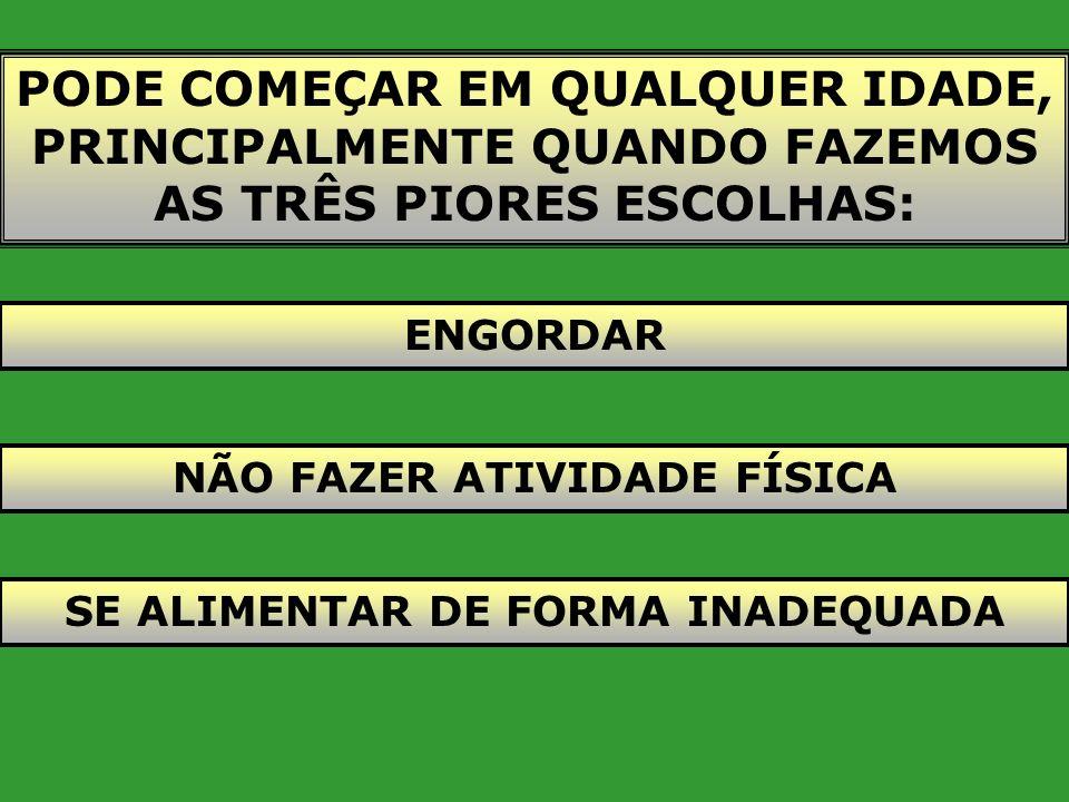 ESTUDO MULTICÊNTRICO DE PREVALÊNCIA DE DIABETES NO BRASIL Ministério da Saúde, 1993 João Pessoa - 7,9% São Paulo - 9,7% Porto Alegre - 8,9% Brasília -