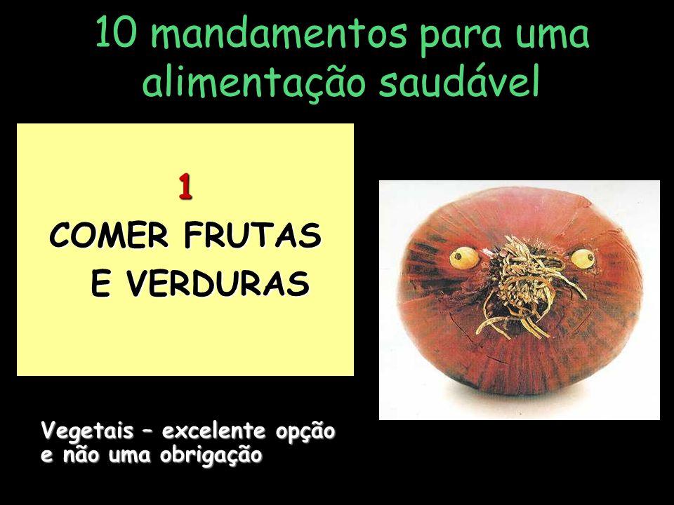 10 mandamentos para uma alimentação saudável 10 COMER DE TUDO, NÃO TUDO AO MESMO TEMPO .