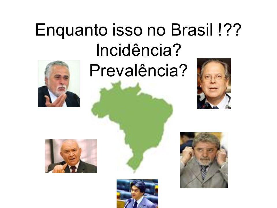Enquanto isso no Brasil !?? Incidência? Prevalência?