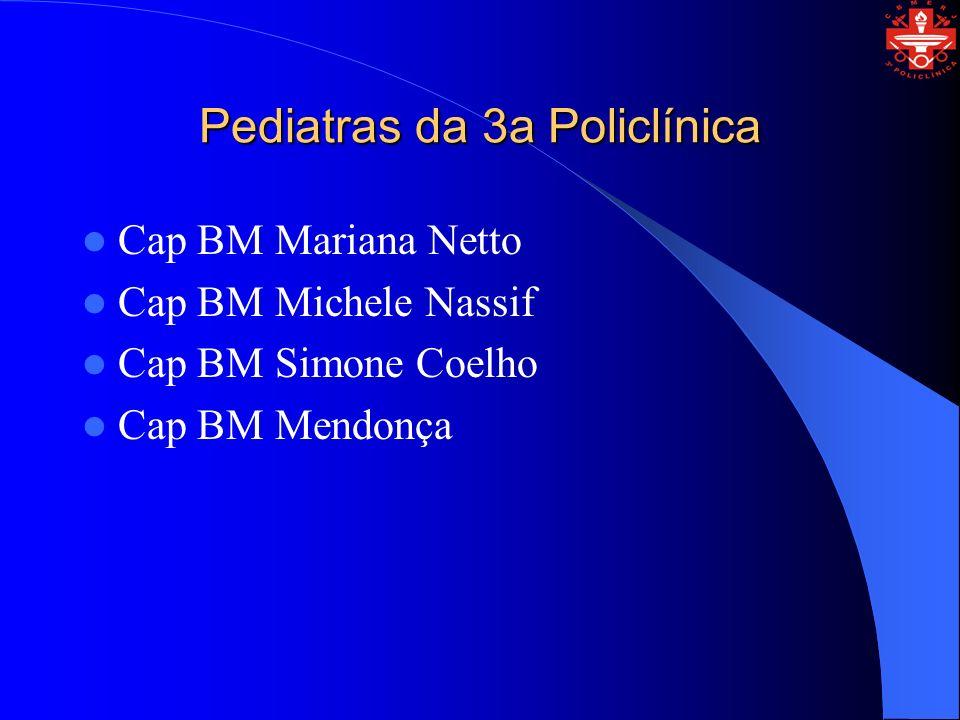 Pediatras da 3a Policlínica Cap BM Mariana Netto Cap BM Michele Nassif Cap BM Simone Coelho Cap BM Mendonça