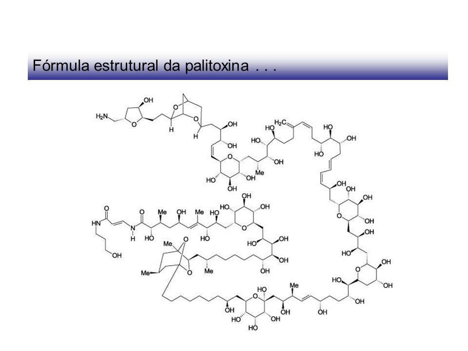 Fórmula estrutural da palitoxina...