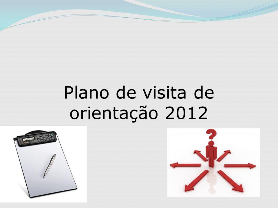Plano de visita de orientação 2012