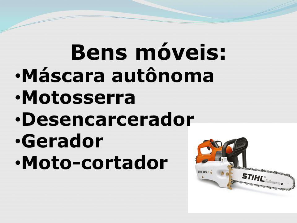 Bens móveis: Máscara autônoma Motosserra Desencarcerador Gerador Moto-cortador