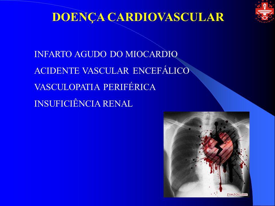 DOENÇA CARDIOVASCULAR INFARTO AGUDO DO MIOCARDIO ACIDENTE VASCULAR ENCEFÁLICO VASCULOPATIA PERIFÉRICA INSUFICIÊNCIA RENAL