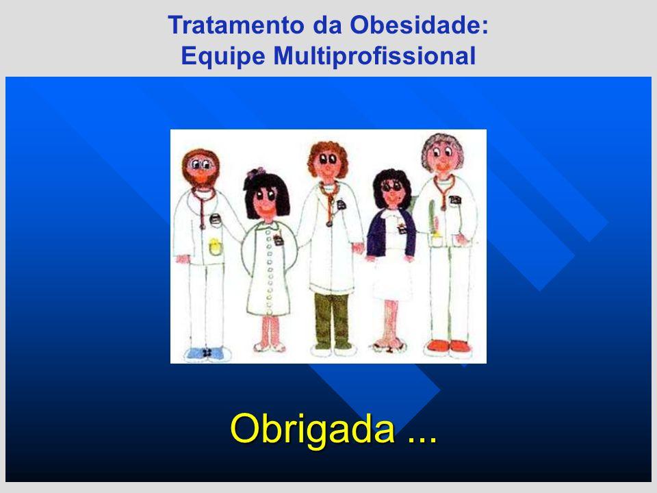 Tratamento da Obesidade: Equipe Multiprofissional Obrigada...