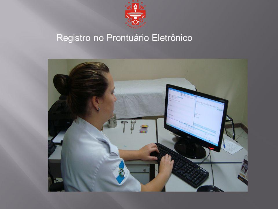Registro no Prontuário Eletrônico