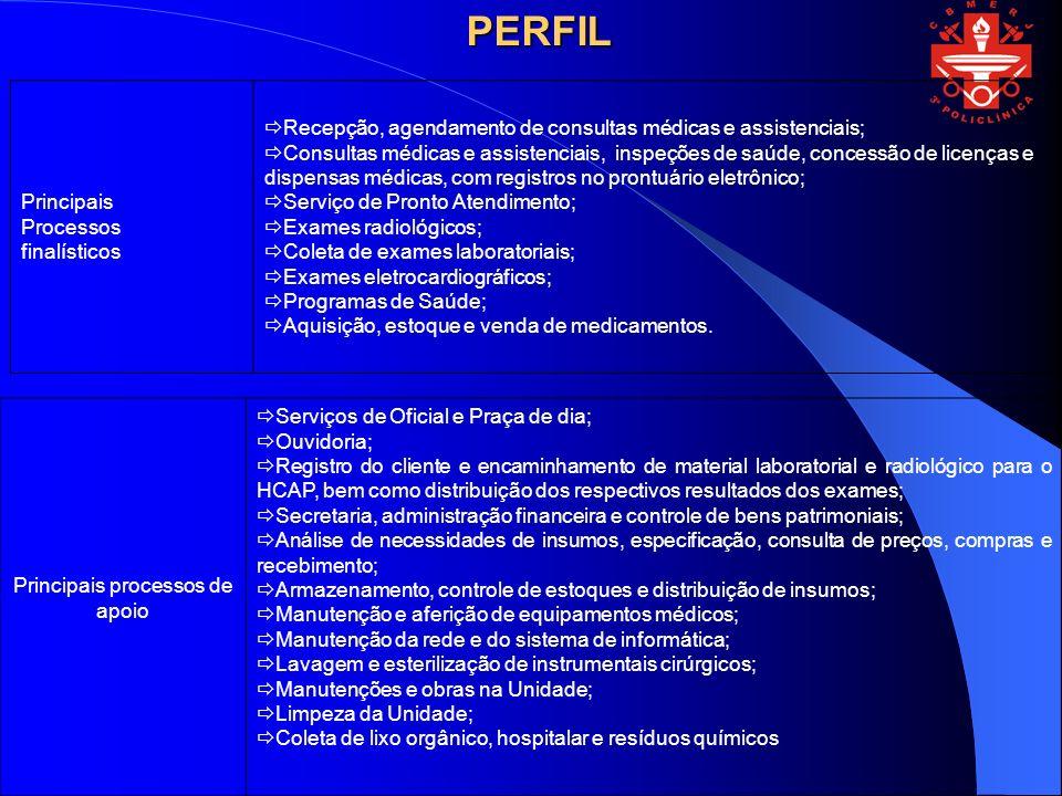 Resultados dos Processos Principais do Negócio e dos Processos de Apoio Equipamentos de inform á tica adquiridos.