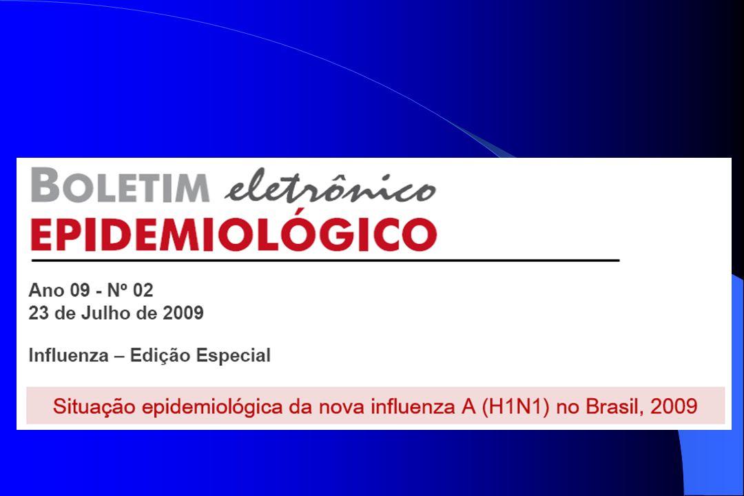 Em 16 de julho de 2009, após a conclusão da investigação epidemiológica de um caso suspeito em São Paulo cujo vínculo ou contato próximo não foi estabelecido, o país declarou transmissão sustentada.