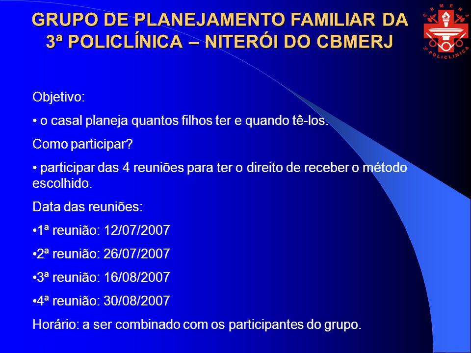 GOVERNO DO ESTADO DO RIO DE JANEIRO SUBSECRETARIA DE ESTADO DA DEFESA CIVIL CORPO DE BOMBEIROS MILITAR DO ESTADO DO RIO DE JANEIRO DIRETORIA GERAL DE SAÚDE 3ª POLICLÍNICA - NITERÓI www.3apoliclinica.cbmerj.rj.gov.br polniteroi@cbmerj.rj.gov.br ouvidoria_3pol@cbmerj.rj.gov.br Tel: 3399-4690 3399-4692