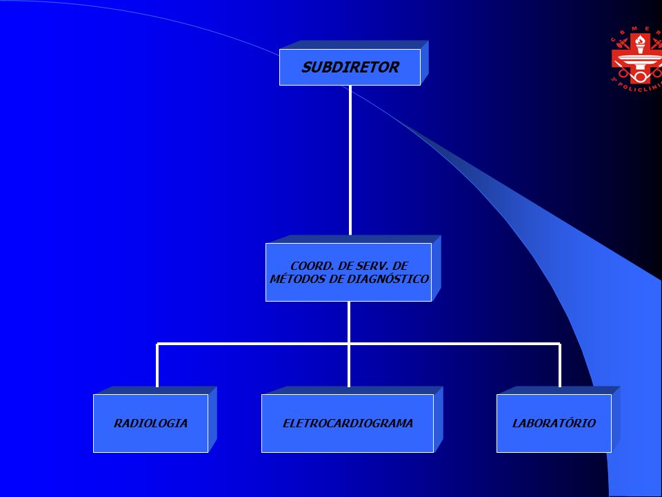 SUBDIRETOR COORD. DE SERV. DE MÉTODOS DE DIAGNÓSTICO ELETROCARDIOGRAMARADIOLOGIALABORATÓRIO