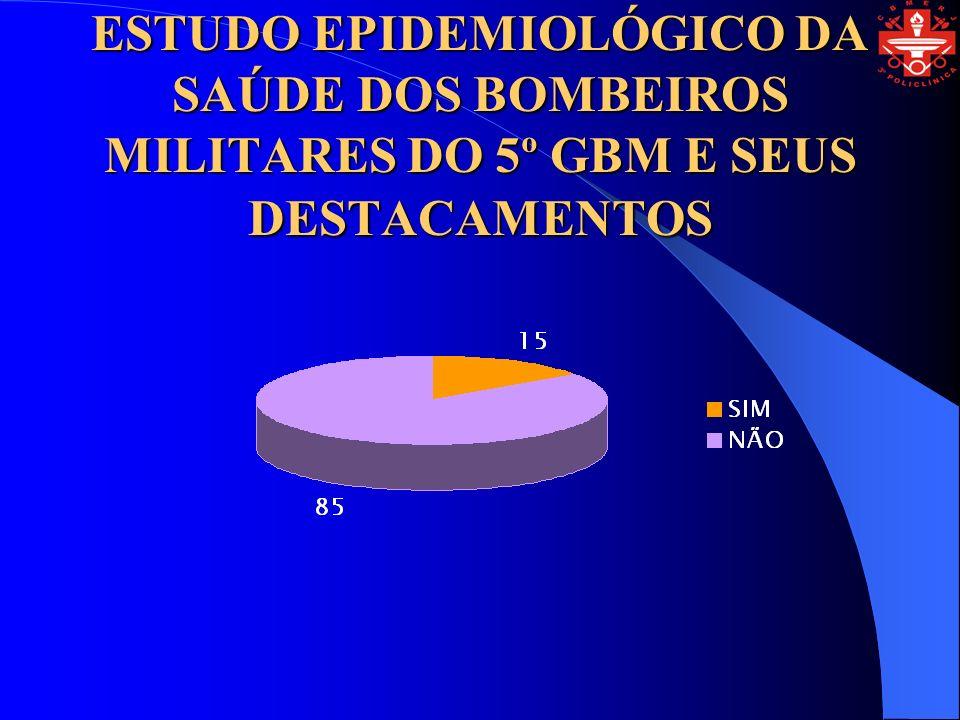 ESTUDO EPIDEMIOLÓGICO DA SAÚDE DOS BOMBEIROS MILITARES DO 5º GBM E SEUS DESTACAMENTOS