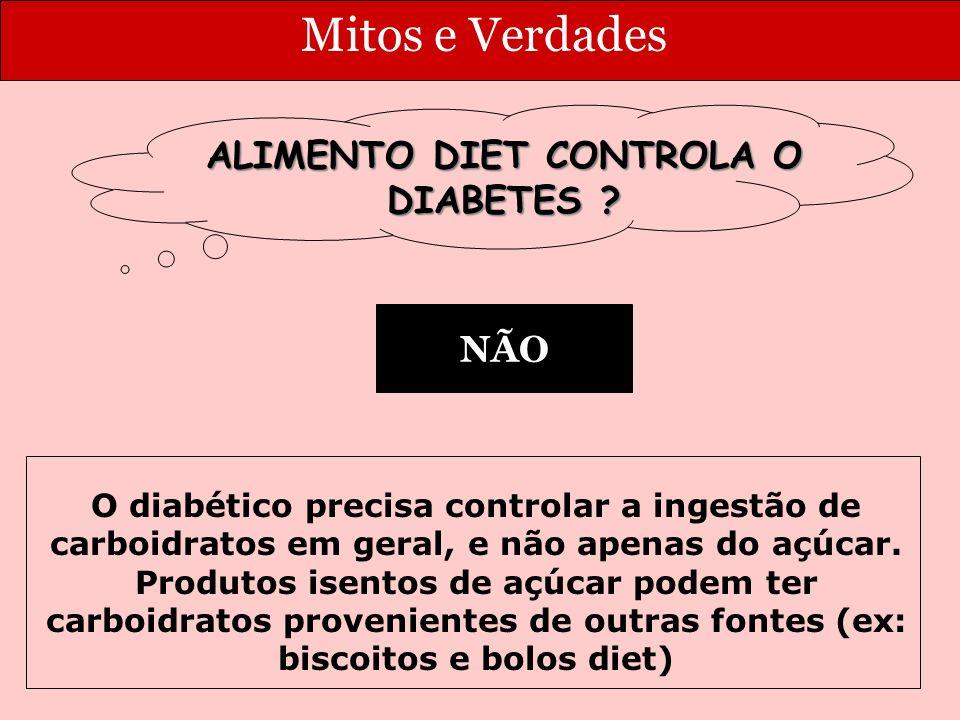 Mitos e Verdades ALIMENTO DIET CONTROLA O DIABETES .