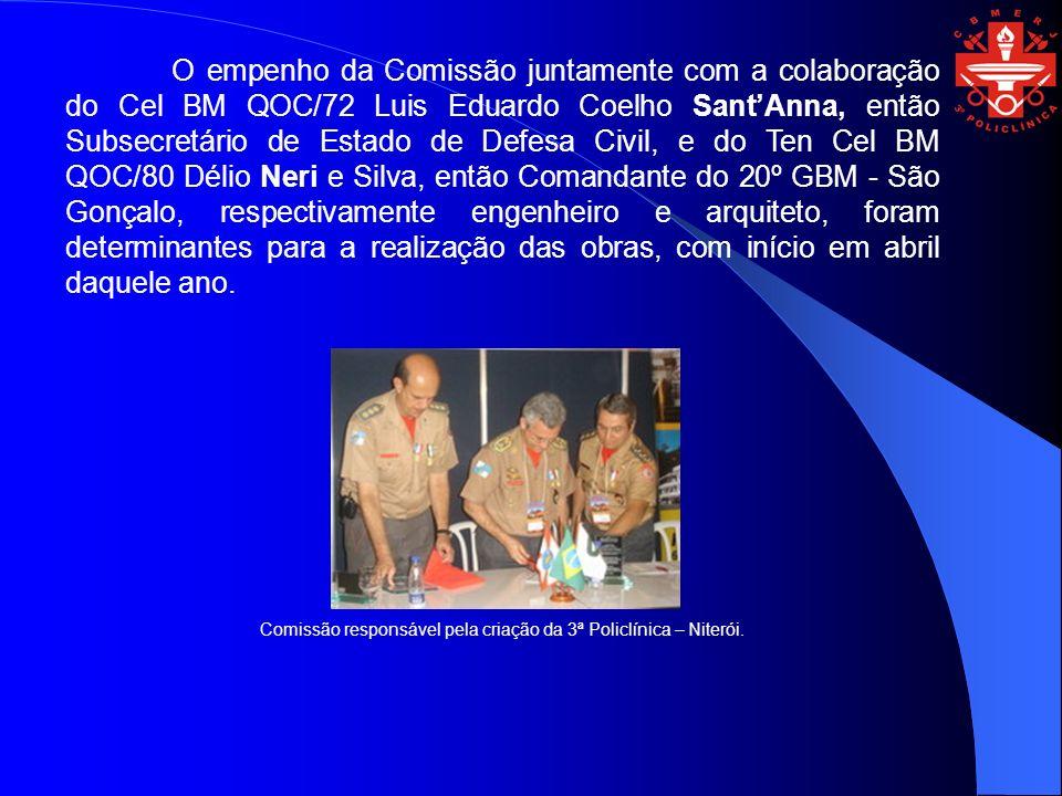 O empenho da Comissão juntamente com a colaboração do Cel BM QOC/72 Luis Eduardo Coelho SantAnna, então Subsecretário de Estado de Defesa Civil, e do