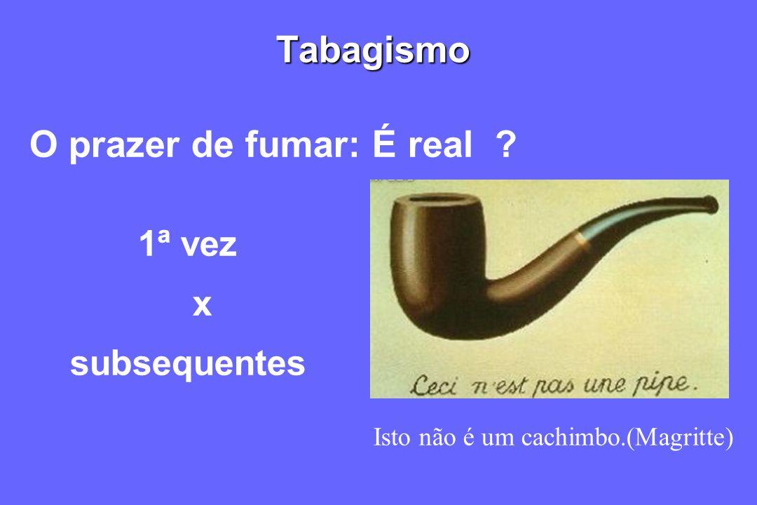Tabagismo O prazer de fumar: É real ? 1ª vez x subsequentes Isto não é um cachimbo.(Magritte)