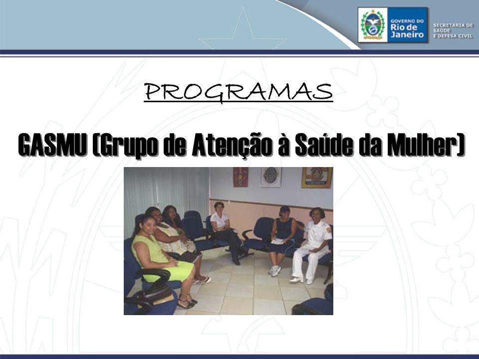 PROGRAMAS GASMU (Grupo de Atenção à Saúde da Mulher)