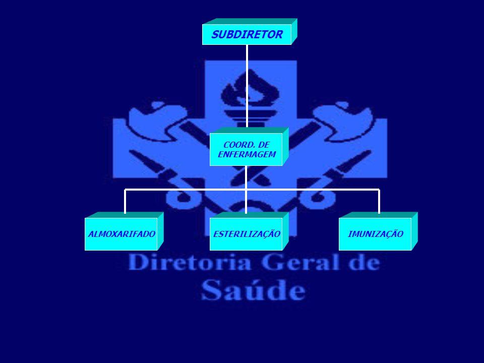 SUBDIRETOR COORD. DE ENFERMAGEM ESTERILIZAÇÃO ALMOXARIFADO IMUNIZAÇÃO