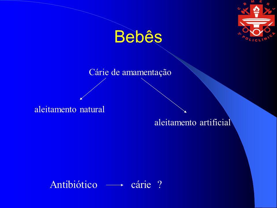 Bebês Cárie de amamentação aleitamento natural aleitamento artificial Antibiótico cárie ?