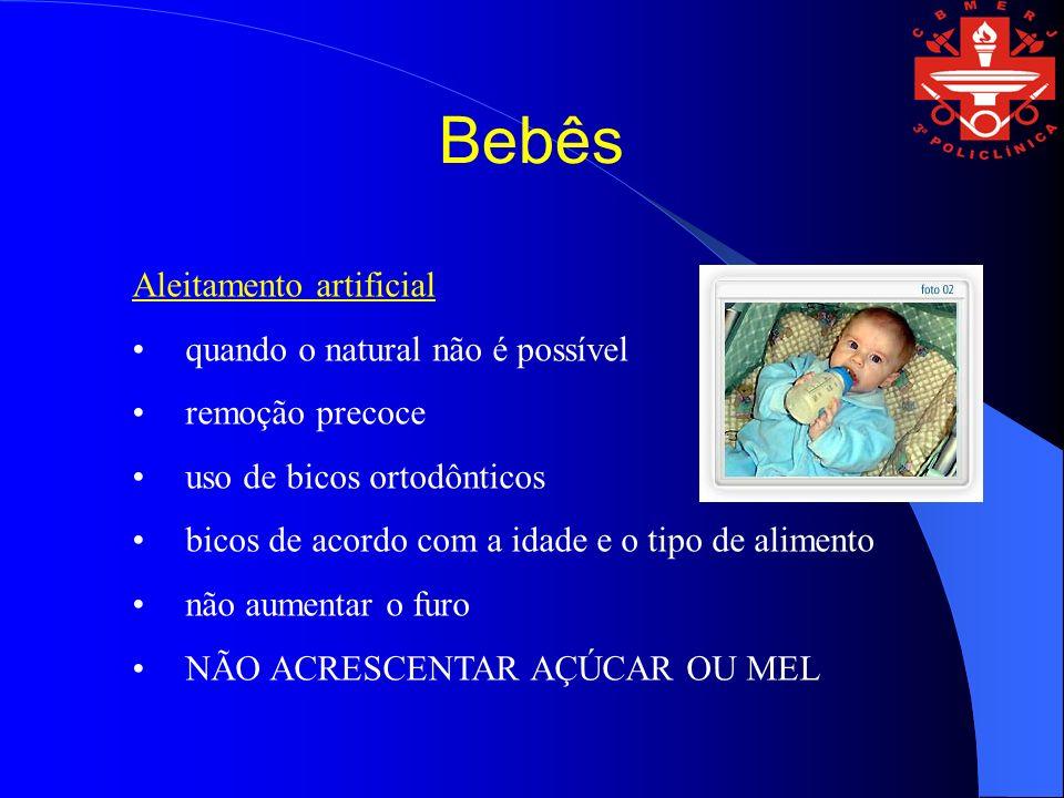 Bebês Aleitamento artificial quando o natural não é possível remoção precoce uso de bicos ortodônticos bicos de acordo com a idade e o tipo de aliment