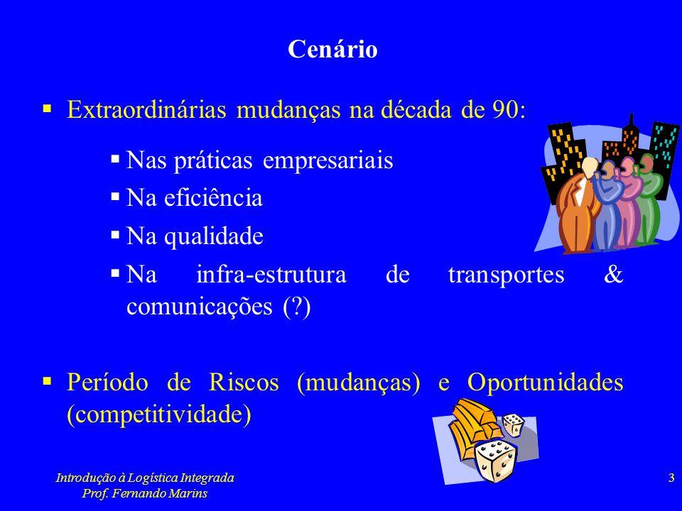 Introdução à Logística Integrada Prof. Fernando Marins 24