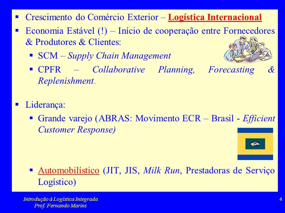 Introdução à Logística Integrada Prof. Fernando Marins 5
