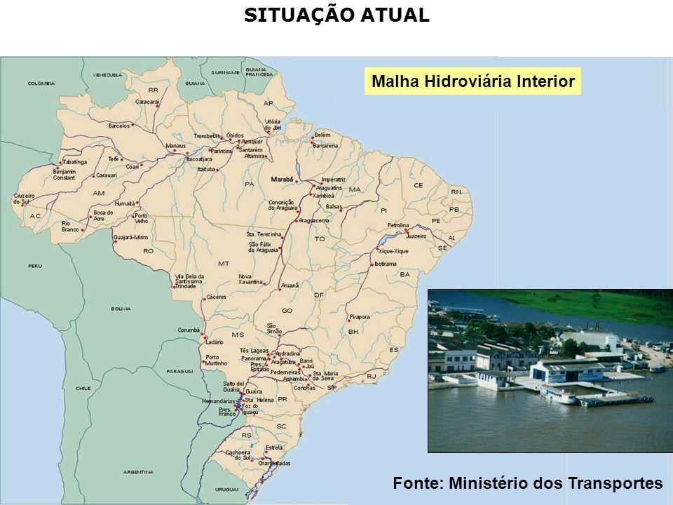 35 8 bacias com 48 mil km de rios navegáveis, 16 hidrovias e 20 portos fluviais