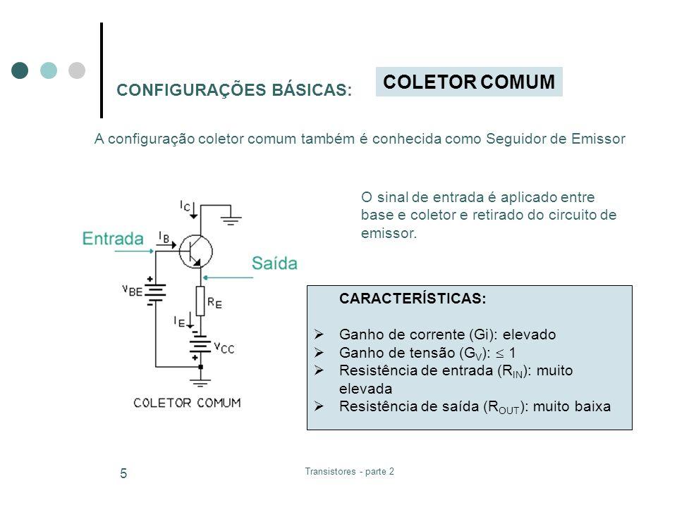 Transistores - parte 2 6 Analisando as CURVAS CARACTERÍSTICAS As curvas características definem a região de operação de um transistor, tais como: região de saturação, região de corte, região ativa e região de ruptura ou Breakdown.