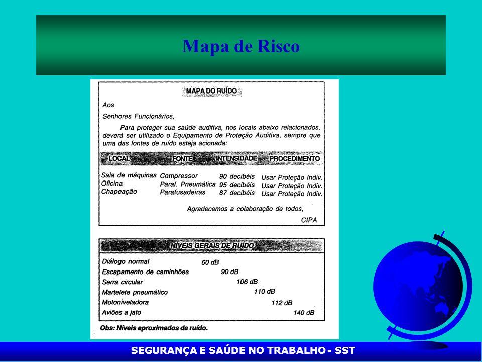 SEGURANÇA E SAÚDE NO TRABALHO - SST Mapa de Risco