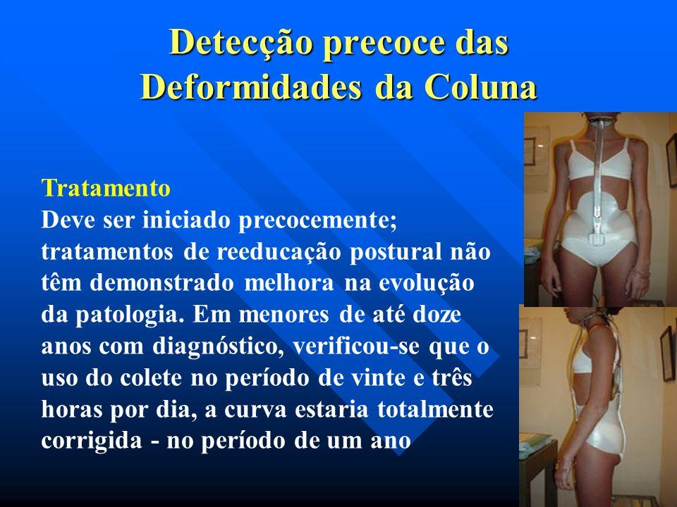 Detecção precoce das Deformidades da Coluna Cifose de Scheuermann. (cifose do adolescente, juvenil, osteocondrite dorsal). Descrita em 1921 por Holger