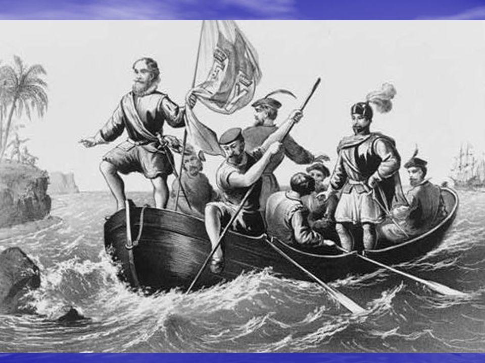 PORTUGAL + ESPANHA + PAPA Bula Inter–Coetera (1493) - divisão do mundo, 100 léguas a oeste de Cabo Verde Portugal reclama Portugal reclama 1494 Tratado de Tordesilhas (Portugal + Espanha) - 370 léguas a oeste de Cabo Verde (parte do Brasil = Portugal) 1498 Vasco da Gama chega às Índias (4 naus, 150 homens) - sinais de terra à oeste