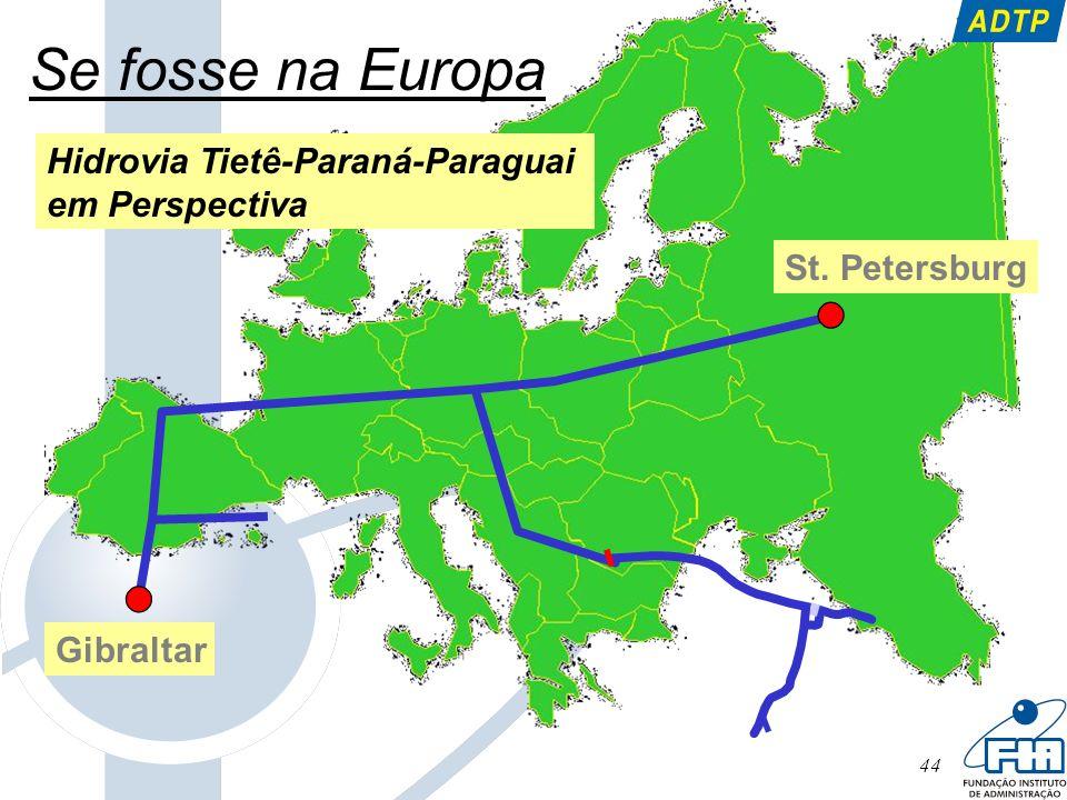 44 St. Petersburg Gibraltar Se fosse na Europa Hidrovia Tietê-Paraná-Paraguai em Perspectiva
