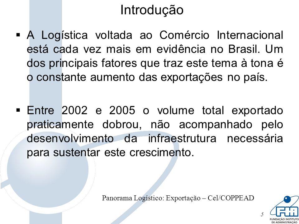 5 Introdução A Logística voltada ao Comércio Internacional está cada vez mais em evidência no Brasil. Um dos principais fatores que traz este tema à t