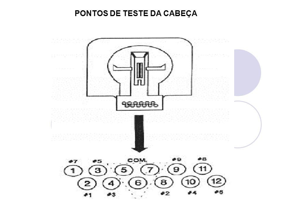 PONTOS DE TESTE DA CABEÇA