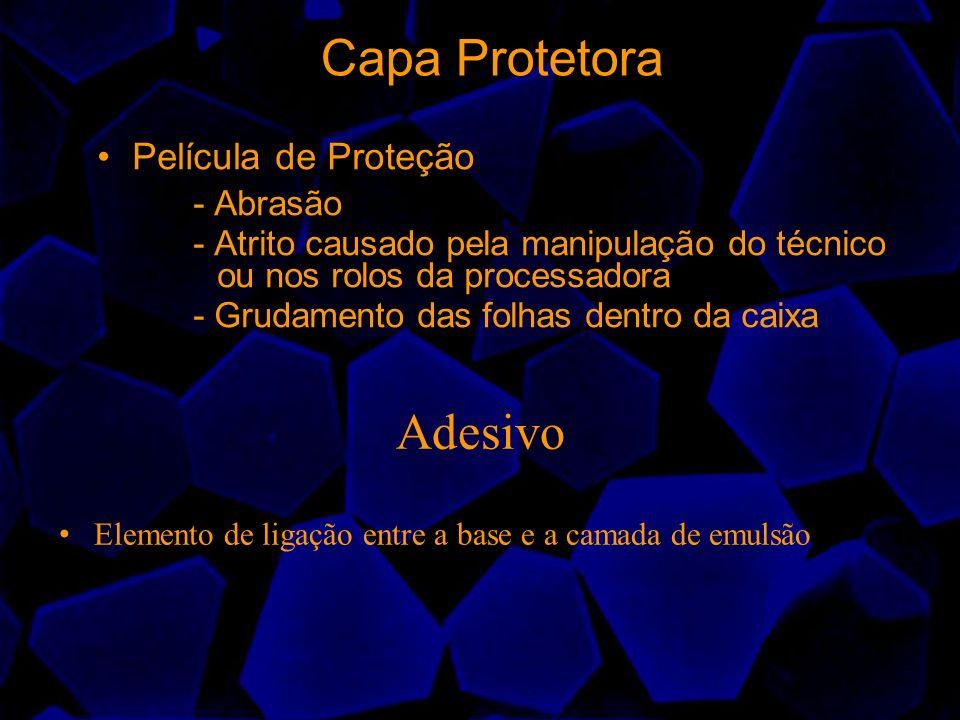 Capa Protetora Película de Proteção - Abrasão - Atrito causado pela manipulação do técnico ou nos rolos da processadora - Grudamento das folhas dentro