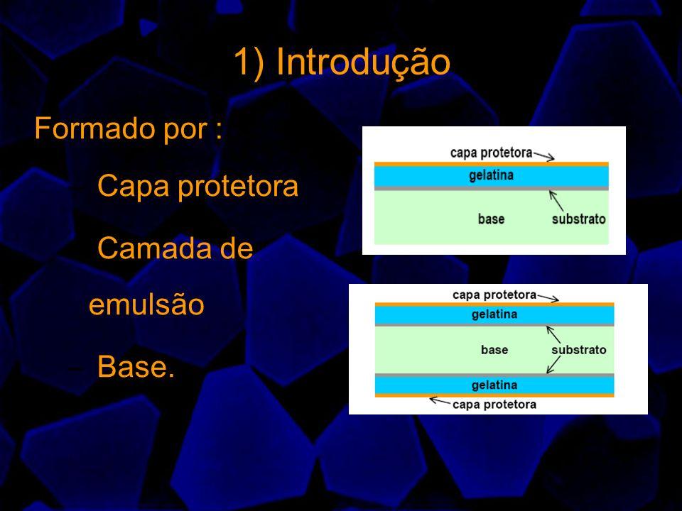 Medição da Densidade Ótica É o grau de escurecimento Podemos nos valer do exemplo: 100 unidades de luz incide sobre o filme e apenas 10 unidades (10%) atravessa, logo a densidade será: Log(100/10)=1 +claro 100 unidades incide e apenas 1 unidade passa (1%): Log(100/1)=2 +escuro