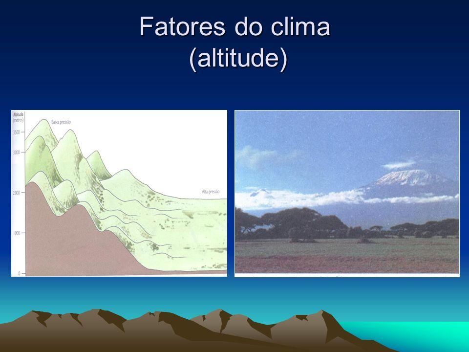 Fatores do clima (altitude)