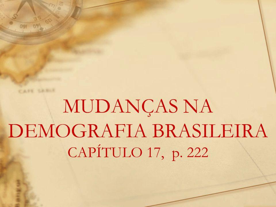 MUDANÇAS NA DEMOGRAFIA BRASILEIRA CAPÍTULO 17, p. 222