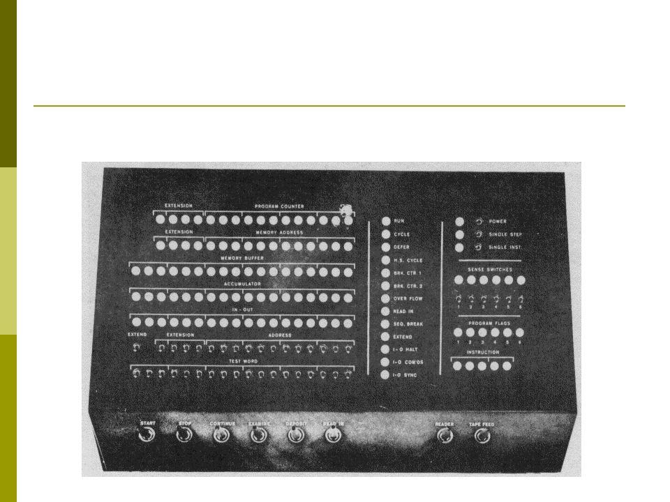PDP-8 Uma máquina de 12 bits.Muito mais barata que o PDP-1, custava cerca de US$ 16.000.