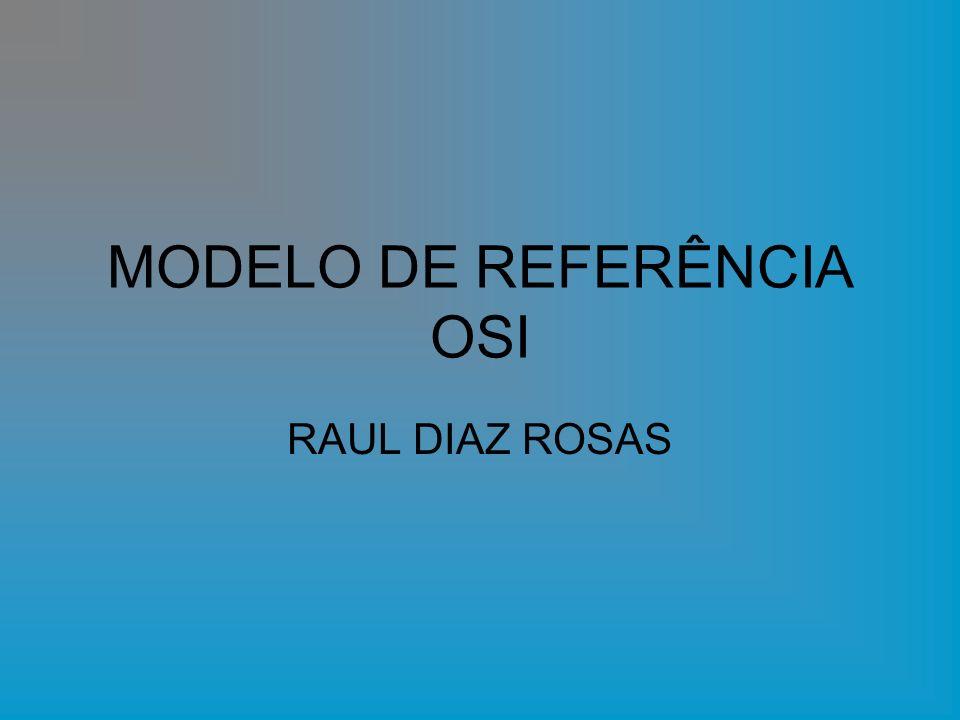 MODELO DE REFERÊNCIA OSI RAUL DIAZ ROSAS