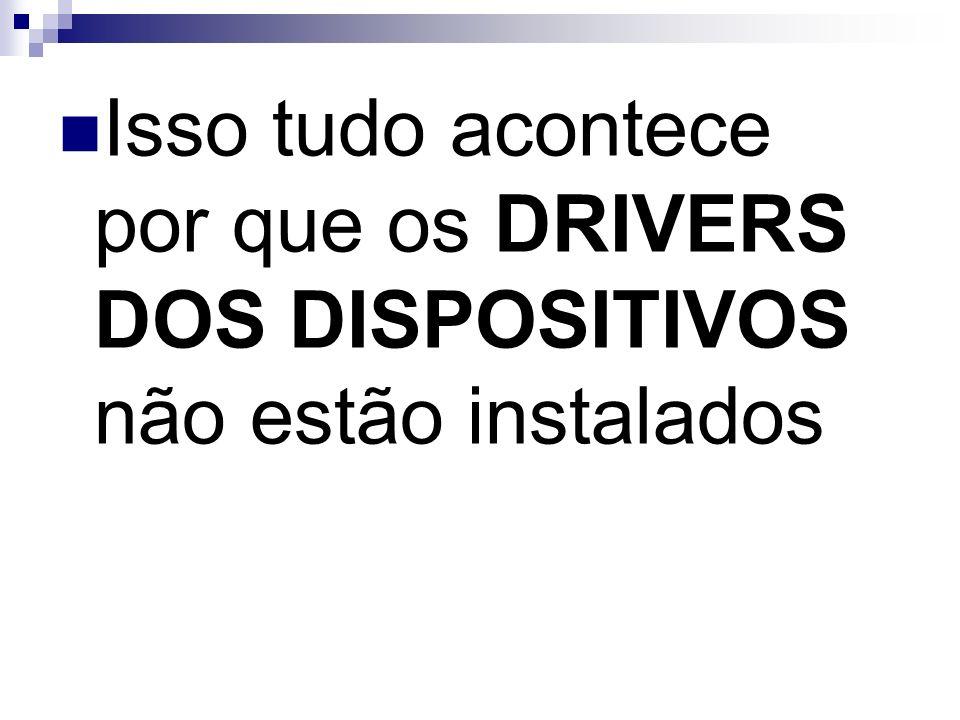 Isso tudo acontece por que os DRIVERS DOS DISPOSITIVOS não estão instalados
