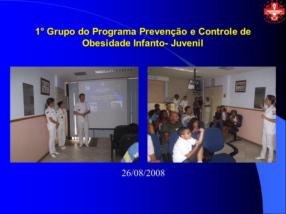 1° Grupo do Programa Prevenção e Controle de Obesidade Infanto- Juvenil 26/08/2008