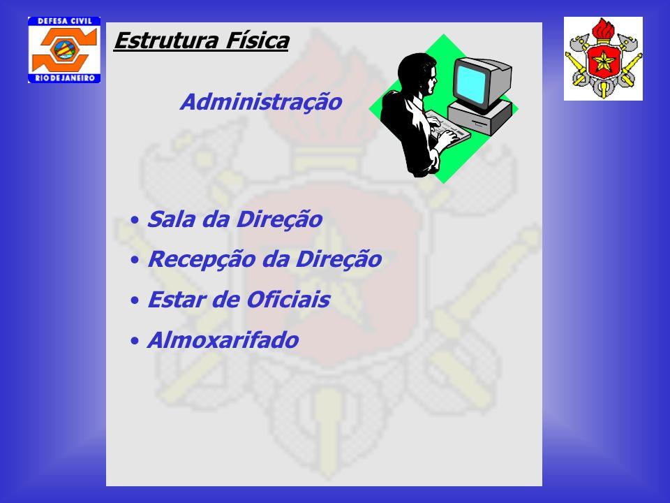 Estrutura Física Administração Sala da Direção Recepção da Direção Estar de Oficiais Almoxarifado
